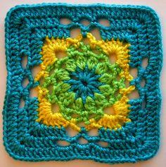 gothic square (block #94 via 200 crochet blocks by jan eaton) by dorsia, via Flickr