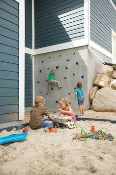 Turn a plain wall into a rock climbing wall!