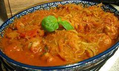 quick spaghetti with creamy basil marinara