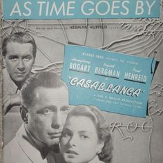 """""""As Time Goes By"""" Vintage Sheet Music From Casablanca"""