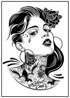 Chick On Ink by *DZNFlavour on deviantART
