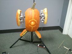 """""""My wife and her co-workers entered this into their workplace pumpkin carving contest. They lost because the judges had no idea what it was."""""""