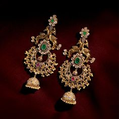 cool Beautiful earrings with intrinsic work must have in collection . by post_link India Jewelry, Temple Jewellery, Silver Jewellery, Silver Rings, Jewellery 2017, Jewellery Earrings, Cuff Earrings, Pearl Jewelry, Pearl Necklace