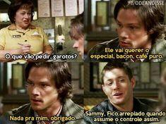 Jared e Jensen Supernatural Series, Supernatural Quotes, Netflix Tv Shows, Castiel, Funny Moments, Book Quotes, Humor, Words, Movies