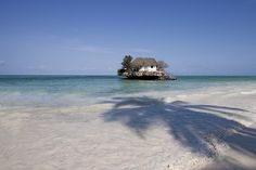The Rock Restaurant in Zanzibar is situated in the middle of the Indian Ocean