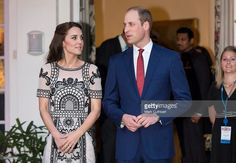 Catherine, Duchess of Cambridge and Prince William, Duke of Cambridge attend a Garden party celebrating the Queen's 90th birthday on April 11, 2016 in New Delhi, India.  (Photo by Mark Cuthbert/UK Press via Getty Images)