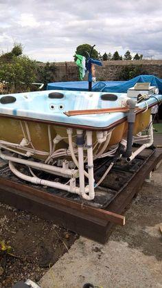 Backyard Sandbox Ideas for Kids: The Best Outdoor Sandboxes - Othence Hot Tub Backyard, Backyard Playhouse, Ponds Backyard, Backyard Games, Backyard Cabin, Backyard Ideas, Garden Ideas, Diy Water Feature, Backyard Water Feature