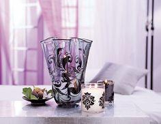 Das Windlichtglas Sinnliche Romantik und das Duftwachsglas GloLite by PartyLite™ Forbidden Fruits, Faszinierende Feige - bringen Sie mehr Glamour Romantik in Ihr Schlafzimmer ♥