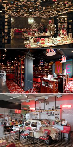 The Cook & Book Cafe / Bookstore in Brussels, Belgium. That's the English…