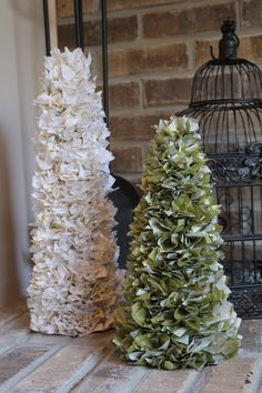 Tissue paper trees Tissue Paper Trees, Christmas Tree, Holiday Decor, Plants, Diy, Photography, Home Decor, Teal Christmas Tree, Photograph