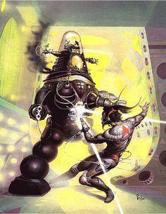 Science Fiction, Fantasy and Future Art. Sci Fi Kunst, Science Fiction Kunst, 70s Sci Fi Art, Arte Tribal, Classic Sci Fi, Pulp Art, Horror Art, Dieselpunk, Cover Art