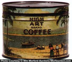Antique Advertising   High Art Coffee Can • Antique Advertising