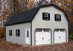 24x30 2-car garage with gambrel (barn-style) roof.  Built by Horizon Structures in West Chester, PA.