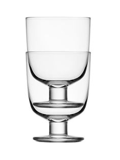 Lempi - the new drinking glass designed by Matti Klenell for Iittala: stackable & for all occasions