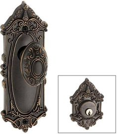 Superb Late Victorian Style Rim Lock Set In Antique By Hand | Doors, Antique  Hardware And Victorian