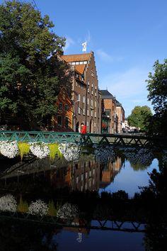 Sweden. Uppsala along the Fyris River
