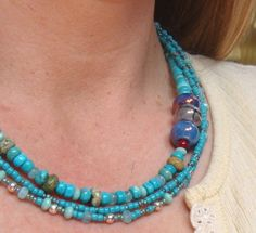 Boho Chic Jewelry Necklace And Earring Set by TamiLopezDesigns, $65.00
