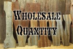 Rusty Tin Letters, Wholesale Lot-  FREE Shipping,  Monogram rustic letter, large letters, Home Decor, Initials, rustic wedding decor by CustomCutDecor on Etsy