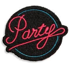 Marc Jacobs Neon 'Party' Patch ($7) ❤ liked on Polyvore featuring accessories, fillers and marc jacobs