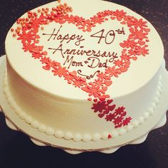 Red velvet ruby 40th anniversary cake.  Newleafpastries.com