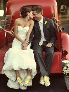 Adorable! Love the red truck and matching yellow shoes