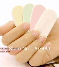 retail Sweet colorful mini Professional Polish Nail Files Buffer Buffing Slim Crescent Grit Sandpaper nail beauty art tool $41.80