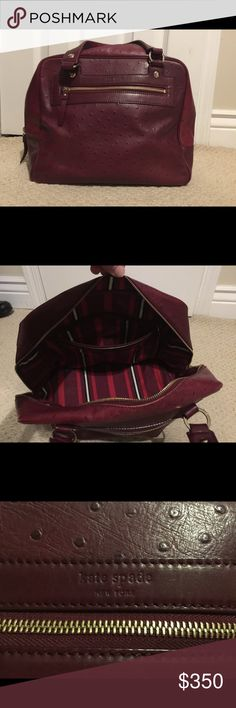 Kate Spade purse Kate Spade Taryne burgundy purse. WLRU0138, excellent condition and well cared for, duster included as well as original tags kate spade Bags Satchels