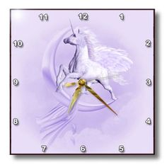 dpp_181731_1 Simone Gatterwe Designs Unicorns Pegasi - A purple flying Pegasus with a moon and clouds in the background - Wall Clocks - 10x10 Wall Clock 3dRose http://www.amazon.com/dp/B00KCYBUOE/ref=cm_sw_r_pi_dp_JZePub1HZM6C1