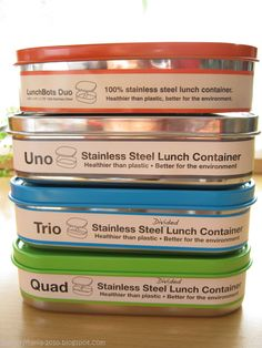 Stainless steel lunchboxes from LUNCHBOTS