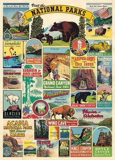 70 Ideas For Vintage Posters Decor Decoration National Parks National Park Gifts, Us National Parks, National Park Patches, Park Art, Vintage Travel Posters, Retro Posters, Art Prints, Poster Prints, Paper Decorations