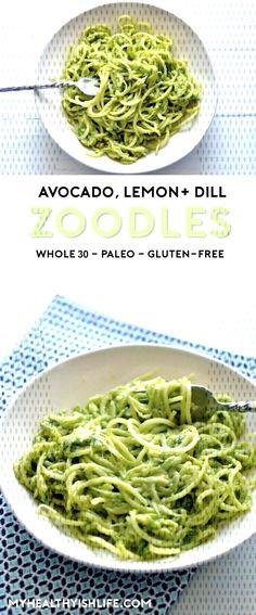 #whole30friendly #easytomake #glutenfree #delicious #important #zoodles #perfect #avocado #bright #summer #lemon #paleo #vegan #these #light Light, bright and easy-to-make, these avocado, lemon and dill zoodles are the perfect summer side dLight, bright and easy-to-make, these avocado, lemon and dill zoodles are the perfect summer side dish. Whole30-friendly, paleo, vegan, gluten-free and, most important, delicious!Light, bright and easy-to-make, these avocado, lemon and dill zoodles are ... Vegan Zoodle Recipes, Summer Side Dishes, Paleo Vegan, Whole 30, Glutenfree, Green Beans, Avocado, Spaghetti, Lemon