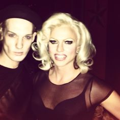 Myself and Courtney Act outside of Eastern Bloc.