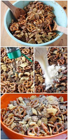Homemade Chex® party mix. Is there any better party or poolside snack?