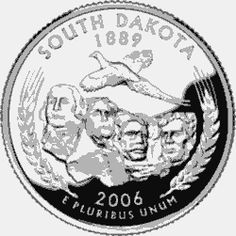 Learn about the South Dakota 50 State Quarter. Access South Dakota official state symbols with description and pictures. United States Mint, 50 States, Land Of The Brave, South Dakota State, State Quarters, Nation State, Commemorative Coins, Money Makers, History