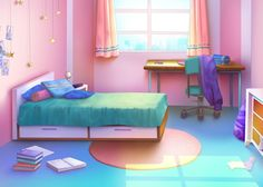 rosa och gron - Modern - Bedroom - by Anime Scenery Wallpaper, Anime Backgrounds Wallpapers, Cute Backgrounds, Scenery Background, Living Room Background, Cartoon Background, Episode Interactive Backgrounds, Episode Backgrounds, Bedroom Designs Images