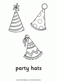 Happy 50 coloring b day 39 s parties more for Coloring pages of birthday hats