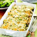 Salsa Verde Enchiladas  This cheesy Mexican casserole, using premade rotisserie chicken to fill the tortillas, is the perfect dish to make now and freeze for later