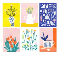 Plants Postcard Pack | The Printed Peanut