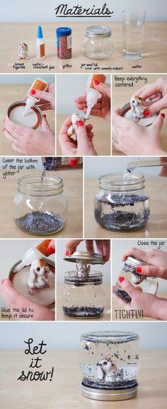 About the nice things: DIY Bola de cristal de Navidad