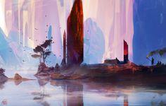 Their tree, sparth - nicolas bouvier on ArtStation at http://www.artstation.com/artwork/their-tree