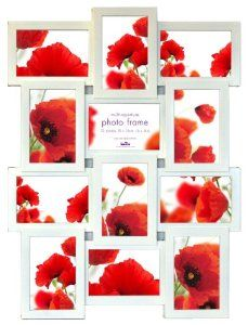 Multi Aperture Photo Picture Frame - Holds 12 X 6''X4'' Photos: Amazon.co.uk: Kitchen & Home Modern Picture Frames, Collage Picture Frames, Photo Picture Frames, Frames On Wall, Multi Picture, Multi Photo, Aperture Photo, Rustic Pictures