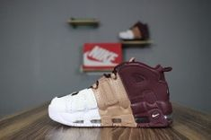 5af74c4539387 Best Quality Nike More Uptempo white wine red brown men's/women's running shoes  921948-