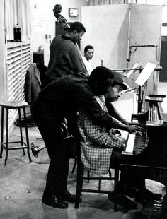from top: bassist Paul Chambers, drummer Philly Joe Jones, pianist William 'Red' Garland and Miles Davis.