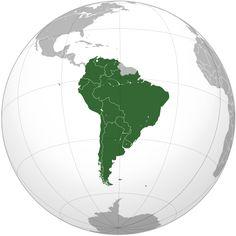 CONMEBOL orthographic projection Mapa CONMEBOL.