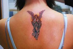 Another angel for my back. I like the placement too