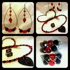 Symbols of Love - Earrings, Necklace & Ring
