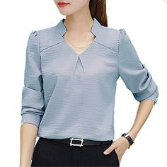 dce76a63 V Neck Blouse, Work Shirts, Blouses, Work T Shirts, Shirt Blouses, Blouse,  Sweatshirts, Woman Shirt