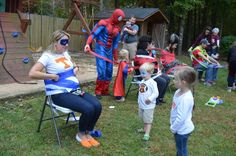 Superhero Party Games Dash like Flash- race to see who 'catches' the bad guys first. Super Michael's Training Camp Party | CatchMyParty.com