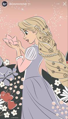 Kawaii Disney, Cute Disney, Disney Girls, Tangled Wallpaper, Disney Wallpaper, Disney Princess Art, Disney Fan Art, Princess Rapunzel, Disney Princesses