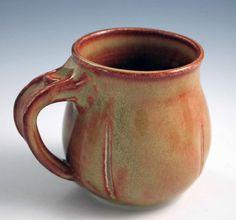 Round-bodied Mug w/ Shino Glaze